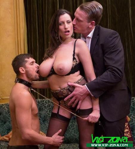 Sensual Jane - Sensual, the big tits milf gets fucked by 2 men (2018/HD)